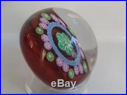1982A Perthshire Complex Millefiori Canes Floral Paperweight Limited Edition EC