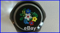 1999 PERTHSHIRE Glass Scotland LIMITED EDITION FLORAL BOUQUET Paperweight Facet