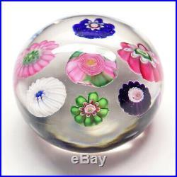 19thC Clichy French Studio Art Glass Miniature Spaced Millefiori Paperweight