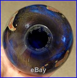 2002 STUNNING! LUNDBERG STUDIOS Art Glass EARTH GLOBE 3.75 Magnum Paperweight