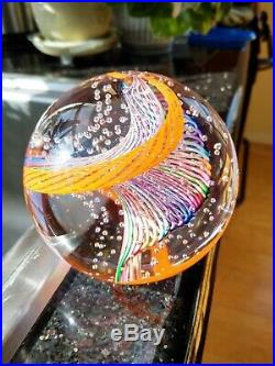 2007 JAMES ALLOWAY Paperweight, Rainbow Twist withCntrl Bubbles, Signed/Dated/#