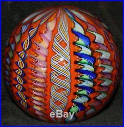 3.1 Diameter Beautiful Art Glass Paperweight from James Alloway