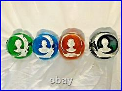 4 Baccarat harlequin glass paperweights Royal Family by John Pinches