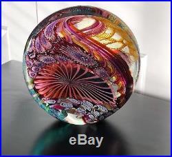 7 Amazing James Nowak Art Glass Paperweight