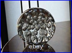 8 Diameter Bubbled Art Glass Globe Sphere Orb Ball Paperweight Weighing 22 lb