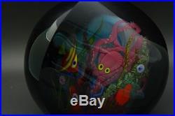 Abelman beautiful Fish Tank Underwater Art Glass Paperweight, Aprx 4.25Wx4.5H