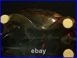 Adorable LALIQUE Topaz Crystal CAROLINE Turtle / Tortoise Paperweight