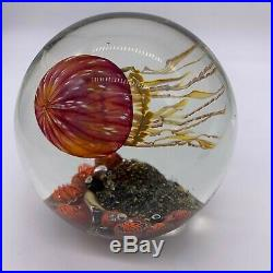 Amazing Richard Satava Signed/Numbered Art Glass Paperweight Spherical 3644-05