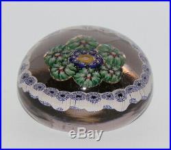 Antikes Jugendstil Glas Millefiori Briefbeschwerer Glass Paperweight Belgien