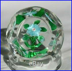 Antique Baccarat Blue Clematis Paperweight