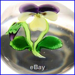 Antique CLICHY Miniature Pansy withBud