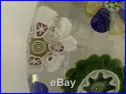 Antique French Classic Period c1840s Scrambled Clichy Art Glass Paperweight