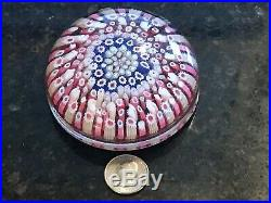 Antique Glass Paperweight MANY RABBIT CANES Millefiori LARGE Paperweight