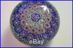 Antique New England Glass Company Concentric Millefiori Paperweight