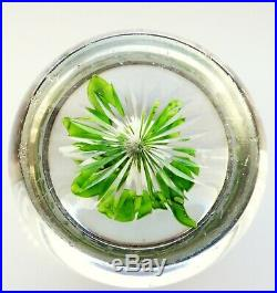 +BACCARAT DOUBLE CLEMATIS WITH BUD+ Paperweight Briefbeschwerer Sulfure +ANTIK+