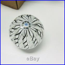 Beautiful JIM BROWN Crown Style Glass Paperweight