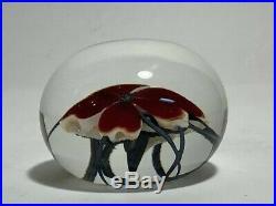 David Lotton Art Glass Flower Paperweight Signed Dated 1992
