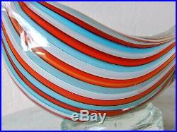 Dino Martens  Aureliano Toso Art Glass Bird Paperweight Murano Italy 3.75lbs