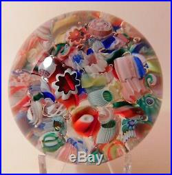 EXTRAORDINARY Antique AMERICAN END OF DAY Art Glass Paperweight (Circa 1890)