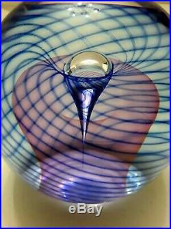 Ed Kachurik 2003 Rare Gallery Art Glass Paperweight Signed