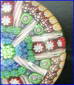 Exquisite Vintage Perthshire Paperweight, P1996, Milliflori &Canes, Great Colors