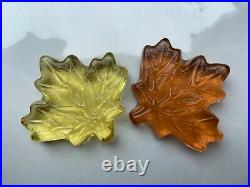 Fire and Light Recycled Glass Maple Leaves
