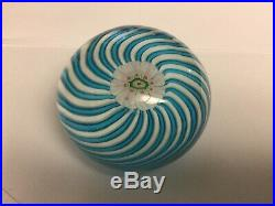 French Antique CLICHY SWIRL Crystal Glass Millefiori Paperweight Great Condition