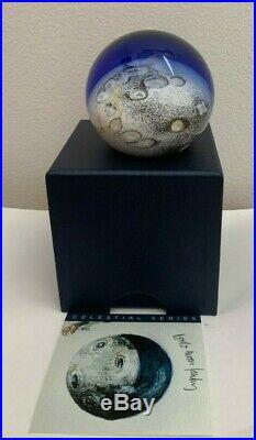 Glass Eye Studio Celestial Series 3 inch Moon Landing Paperweight