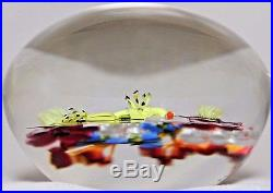 Gorgeous Paul STANKARD Bouquet of WILDFLOWERS Artist's PROOF Glass PAPERWEIGHT