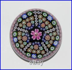 Grosser Glas Briefbeschwerer Perthshire Scotland Millefiori Paperweight 1996