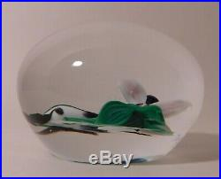 IMPRESSIVE and is SIGNED Rick Ayotte Humming Bird Lampwork Art Glass PAPERWEIGHT