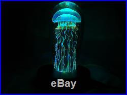 Illuminating Rick Satava Moon Jellyfish Paperweight Artist Signed & #! - Beauty
