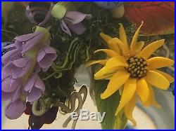 Incredible Paul Stankard Art Glass Paperweight Fertile Bee Flowers Root Figure
