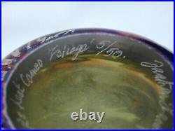 Jonathan Harris Limited Edition 5/50 2001'Foliage' Cameo Green Silver Art Glass