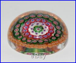 Jugendstil Glas Millefiori Briefbeschwerer Baccarat Glass Paperweight France