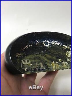 Kosta Boda Sweden Paperweight Goran Ann Warff Art Glass Lappland Series