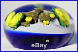 LARGE Alluring PAUL STANKARD Blooming PRICKY Pear CACTUS Art Glass PAPERWEIGHT
