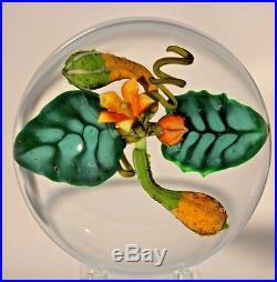 Large BEAUTIFUL Paul STANKARD Indian SQUASH Gourds ART Glass PAPERWEIGHT