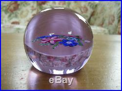 Ltd Ed Caithness Victorian Bouquet Whitefriars Paperweight Monk Cane (204/500)