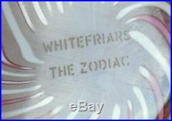 Ltd Ed Caithness Whitefriars The Zodiac Paperweight Monk Cane(103/250) 2 3/4