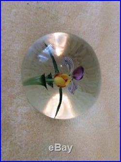 Lundberg Studio Outstanding Daniel Salazar Orchid Paperweight