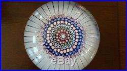 MAGNUM Glass Antique RICHARDSON'S Stourbridge Concentric Millefiori Paperweight