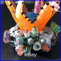 Mark Eckstrand Sea Anemone Signed ME 2002Art Glass Paperweight