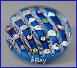 Mid 20thC Vintage 1972, Signed Saint Louis, Millefiori Paperweight, Perfect! NR