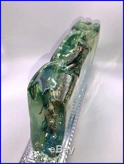 Murano Block Vintage Aquarium Fish Paper Weight 8lbs Wow Excellent Cenedese Rare