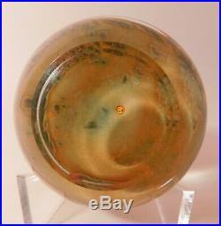 PHENOMENAL CLINTON SMITH Fawn Lampwork Art Glass PAPERWEIGHT & Signature Cane