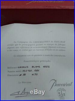Paperweight Briefbeschwerer Baccarat Crocus Blanc Frankreich 1981