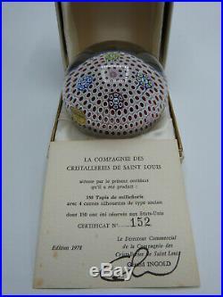 Paperweight Briefbeschwerer Saint Louis Millefiori Frankreich 1978