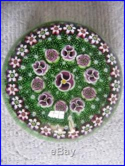 Parabelle Pansy and Clichy Style Rose Paperweight