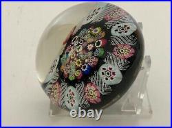 Paul Ysart Spoke Closepack Millefiori Art Glass Paperweight